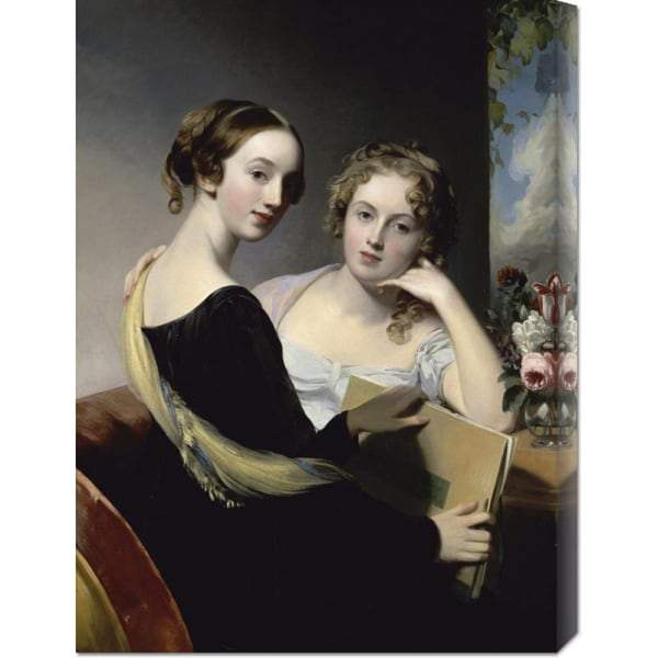 Thomas Sully 'Portrait of the McEven Sisters' Stretched Canvas Art