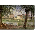 Alfred Sisley 'Little Town on the River Seine, 1872' Stretched Canvas Art