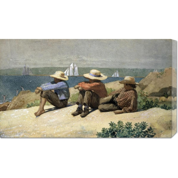 Winslow Homer 'On the Beach' Stretched Canvas Art