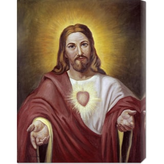 Vittorio Bianchini 'Sacred Heart of Jesus' Stretched Canvas Art