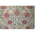 William Morris 'The Rose Pattern' Stretched Canvas Art