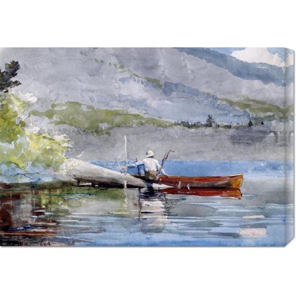 Winslow Homer 'The Red Canoe' Stretched Canvas Art