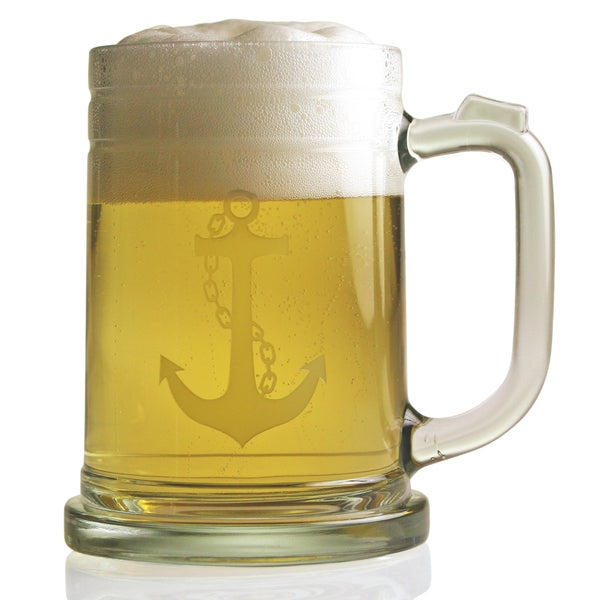 Anchor Collection 15-ounce Tankard Beer Mugs (4)