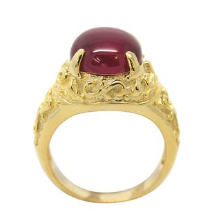 De Buman Gold over Sterling Silver Created Ruby Ring