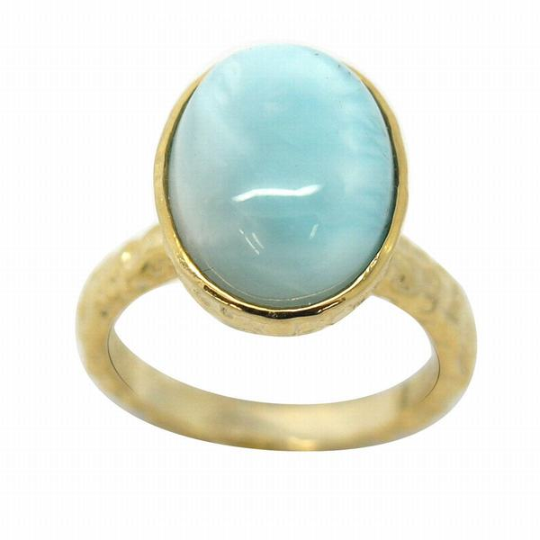 De Buman Gold over Sterling Silver Amazonite Ring
