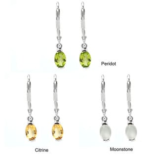 De Buman Sterling Silver Gemstone Earrings