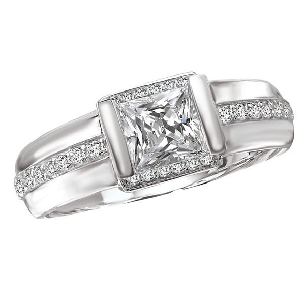 Avanti 14k White Gold 1/5ct TDW Diamond Semi-mount Engagement Ring (G-H, SI1-SI2)