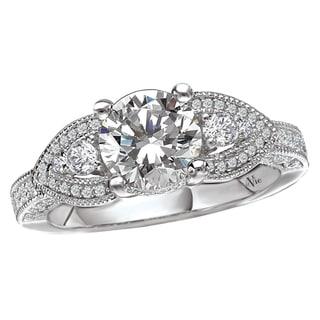 Avanti 14k White Gold 1/2ct TDW Diamond Semi-mount Engagement Ring (G-H, SI1-SI2)