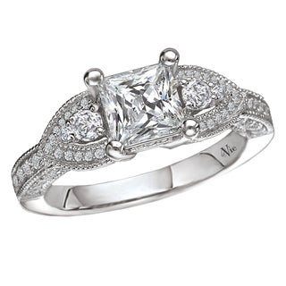 14k White Gold 1/2ct TDW Diamond Semi-mount Engagement Ring (G-H, SI1-SI2)