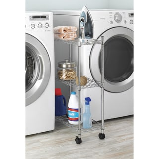 Whitmor Supreme 3-Tier Laundry Cart