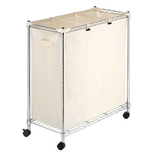 Whitmor Supreme Canvas/ Steel 3-compartment Laundry Sorter