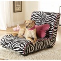 Enchanted Home Zebra Pet Elliot Lounger