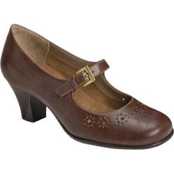 Women's Aerosoles Caricature Brown Synthetic
