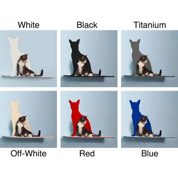 Cat Silhouette Cat Shelf - Perch