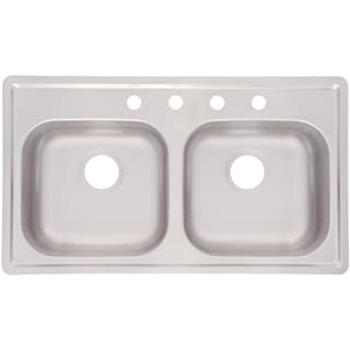 Franke Double Bowl Mobile Home 6.5-inch Stainless Steel Sink