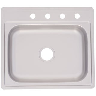 Franke Single Bowl Topmount 6-inch Deep Stainless Steel Sink