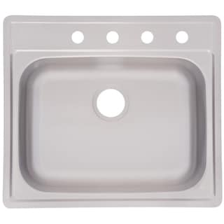 Franke Single Bowl Top Mount 8-inch Deep Stainless Steel Sink