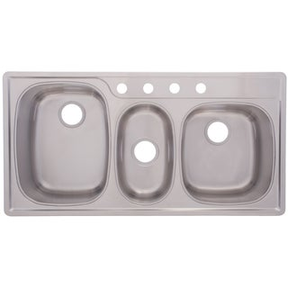 Franke Triple Bowl Top Mount 9.5-inch Stainless Steel Sink