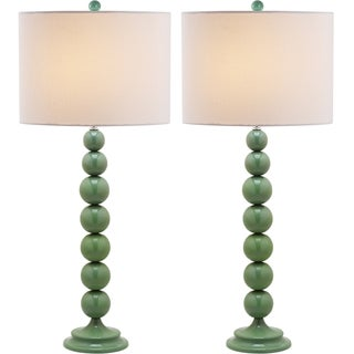 Jenna Stacked Ball 1-light Marine Blue Table Lamps (Set of 2)