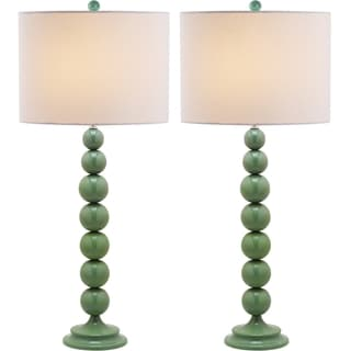 Safavieh Jenna Stacked Ball 1-light Marine Blue Table Lamps (Set of 2)
