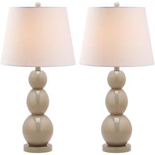 Jayne Three Sphere Glass 1-light Taupe Table Lamps (Set of 2)