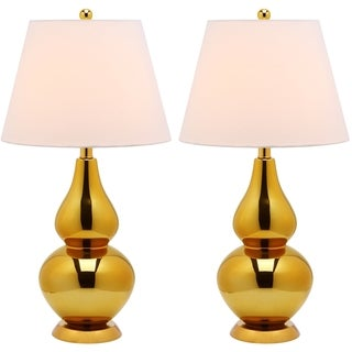 Safavieh Cybil Double Gourd 1-light Gold Table Lamps (Set of 2)