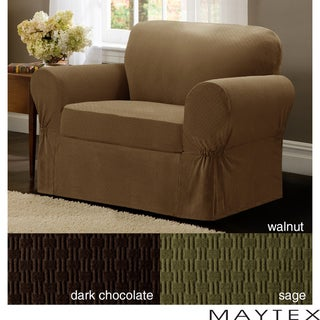 Maytex Cobblestone 2-Piece Chair Slipcover