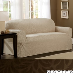 Maytex James Leaf One-Piece Loveseat Slipcover
