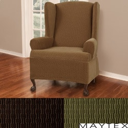 Maytex Cobblestone Wing Chair Slipcover