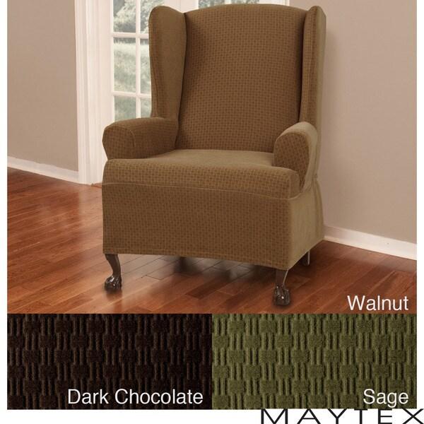 Maytex Cobblestone Wing Chair Slipcover