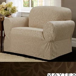 Maytex James Leaf One-piece Chair Slipcover