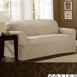 Maytex James Leaf One-Piece Sofa Slipcover