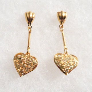 Ann Marie Lindsay 18k Gold Heart Earrings