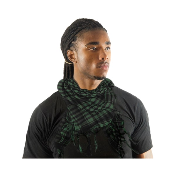 Private Island Green/ Black Houndstooth Square Scarf
