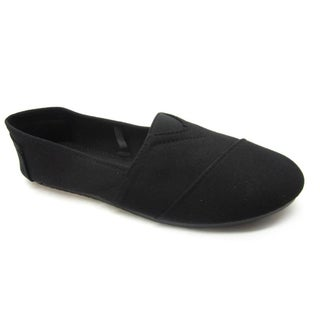 Blue Woman's 'Timmy' Black Fabric Wrap Flats