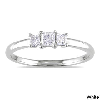 Miadora 14k Gold 1/3ct TDW Diamond 3-stone Ring (G-H, I1-I2)