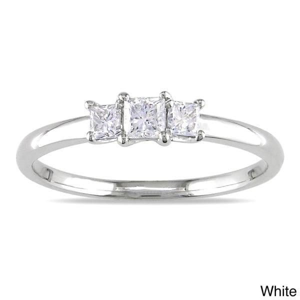 Miadora 14k Gold 1/3ct TDW Diamond 3-stone Ring (G-H, I1-I2)