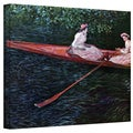 Claude Monet 'Canoe' Wrapped Canvas Art