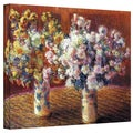Claude Monet 'Two Vases' Wrapped Canvas Art