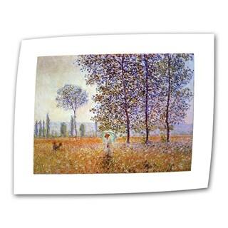 Claude Monet 'Poplars' Flat Canvas Art
