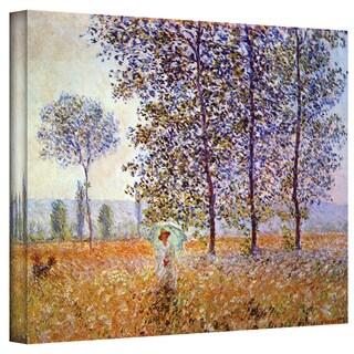 Claude Monet 'Poplars' Wrapped Canvas Art
