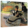 Claude Monet 'Park Bench' Wrapped Canvas Art