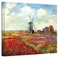 Claude Monet 'Windmill' Wrapped Canvas Art
