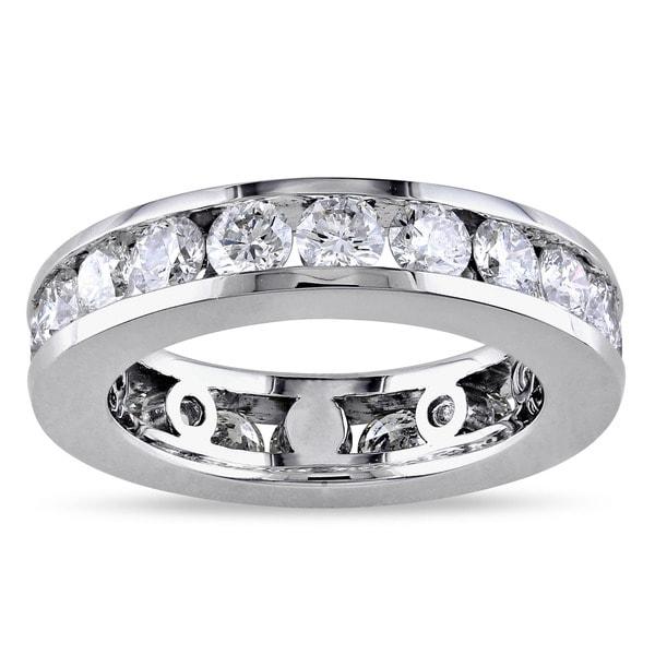 Miadora Signature Collection 14k White Gold 3ct TDW Round-cut Diamond Eternity Ring (G-H, I1-I2)