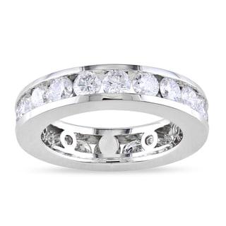 14k White Gold 3ct TDW Round-cut Diamond Eternity Ring (G-H, I1-I2)