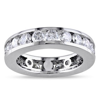 Miadora Signature Collection 14k White Gold 3ct TDW Round-cut Diamond Eternity Ring (G-H, I1-I2)