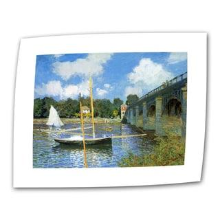 Claude Monet 'The Argenteuil Bridge' Flat Canvas