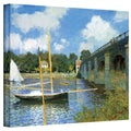 Claude Monet 'The Argenteuil Bridge' Wrapped Canvas