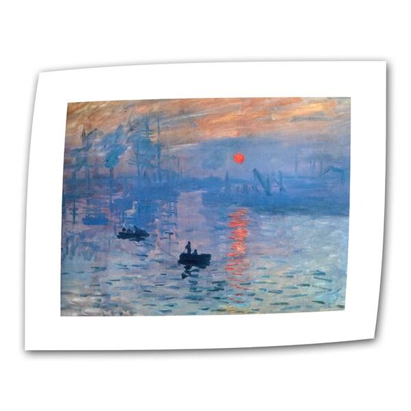 Claude Monet 'Sunrise' Flat Canvas