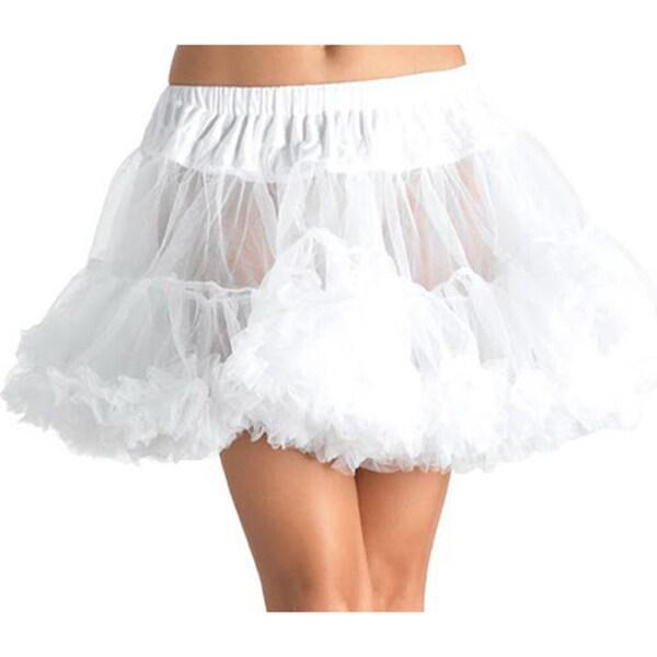 Private Island Women's White Double Layered Petticoat